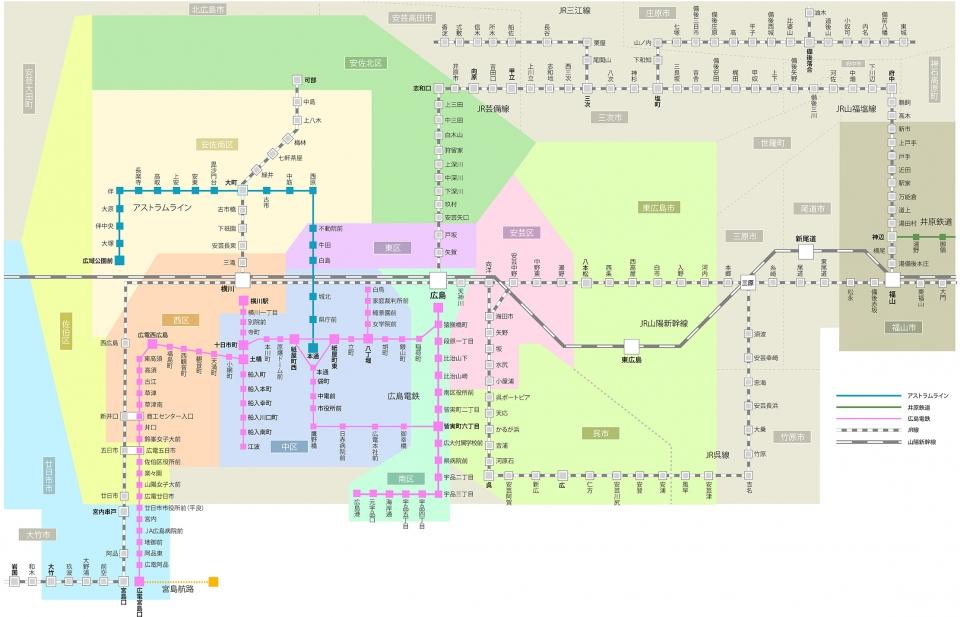 広島交通マップ
